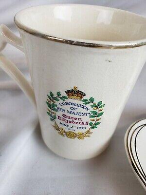 Queen Elizabeth ll Coronation Mug and Bowl 1953 4