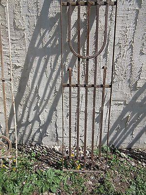 Antique Victorian Iron Gate Window Garden Fence Architectural Salvage Door #396 3