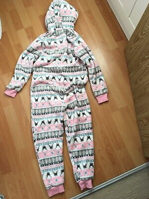 Girls Matalan Pink White All-in-one Age 9 Yrs 2
