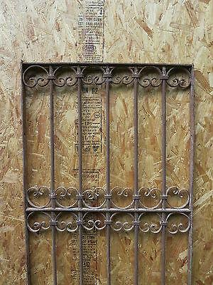 Antique Victorian Iron Gate Window Garden Fence Architectural Salvage Guard J 2