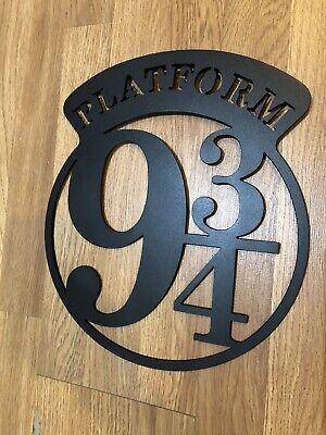 Harry Potter Platform 9 3/4 Metal Wall Sign 3