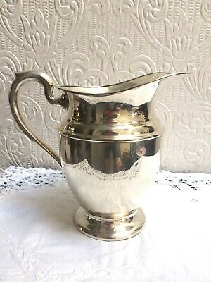 Vintage Mid Century PSCO Preisner Silver Co. Silverplate On Copper Water Pitcher 6