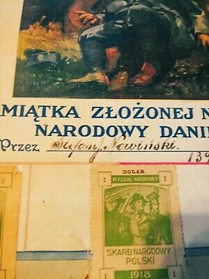 Polish National Department. It's for Poland.  Extremely Rare 1918 Polish poster 4