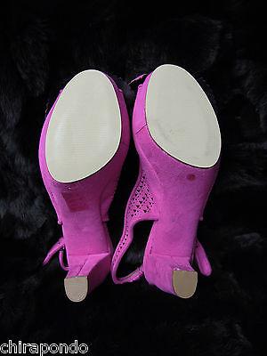 Sandalette Liberitae Schleifchen rosa Spitze zeitlos Gr. 37 mit Ersatzabsätzen 7