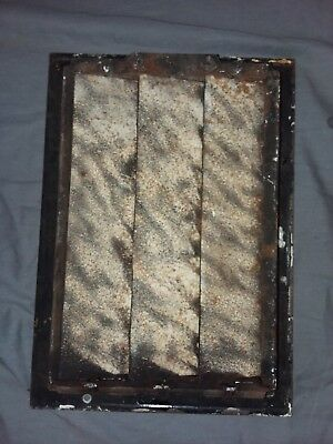 Antique Cast Iron Floor Wall Heat Grate 14x10 Louvres Victorian Design  100-18F 5