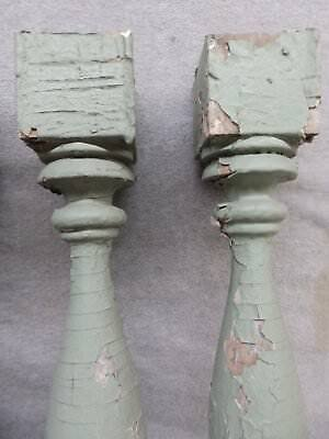 1 Antique Turned Wood Spindle Porch Baluster Thick Old Vtg Architectural 540-17R 10