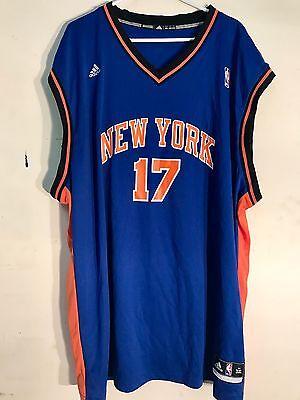 a4ba76778 ADIDAS NBA JERSEY New York Knicks Jeremy Lin Blue sz 4X -  12.99 ...