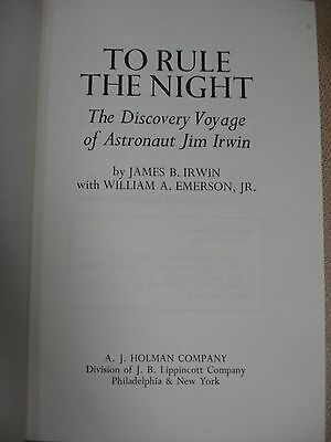 To Rule the Night signed by Author and Jim Irwin - 1973 3