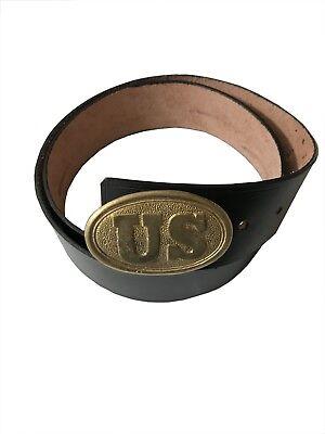 Us Civil War Vest Belt With Brass Buckle 3