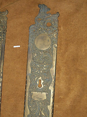 Antique RHCo Belfort Door Knob Backplates 4