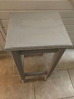 Stylish Plinth Display Stand Stool Table Paris Grey Old Pine 3