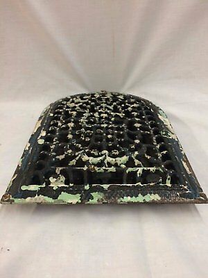 Antique Cast Iron Arch Top Dome Heat Grate Wall Register Black 2069-16 5