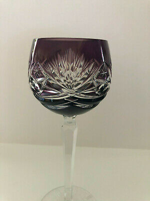 VINTAGE BOHEMIAN STYLE CRYSTAL ROEMER (Römer) WINE GLASS FROM GERMANY - GRAPE 7