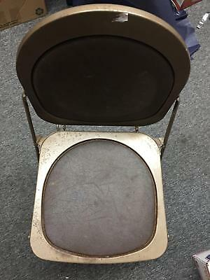Steel Vintage 50s 1950s Folding Utilitarian Chair Chairs 11
