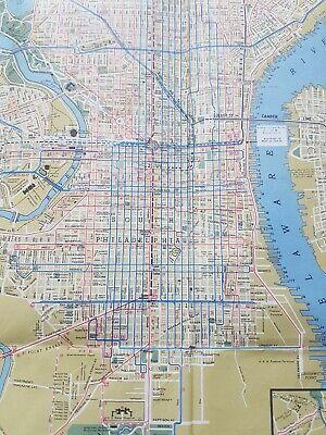 Philadelphia & Vicinity Street Car &. Subway map 1956 PTC Transit VGC Large 4