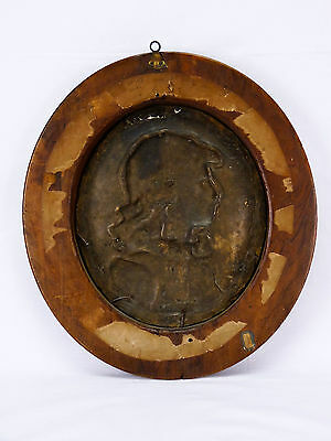 Augusto Felici (1851) Retrato Bronce Italia Roma Pontificia Pontificia Lombardía 8