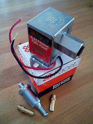 FACET 12v VOLT ELECTRIC FUEL PUMP. 4-7 psi. FITTINGS+FILTER. 24 Month WARRANTY! 2
