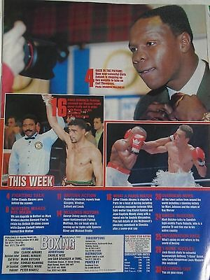 BOXING NEWS - 27 feb 1998 - eubank, mcdonnell, holyfield, lewis free p&p to uk 2