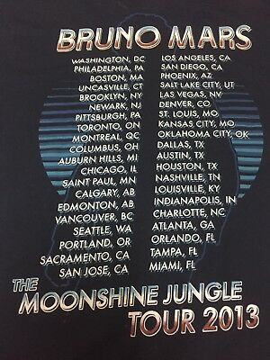 Authentic Bruno Mars Tour Merch 2013 RARE Pop star 90s Funk Moonshine Jungle Fan 7