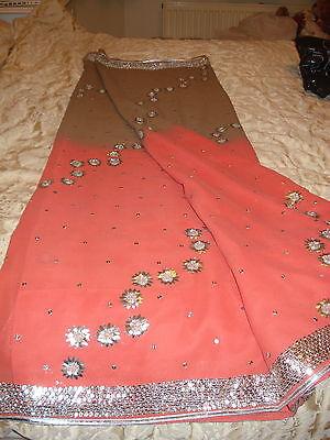 Ladies / Girls Wash & Wear Saree With Gota Patti Silver Work Throughout 6