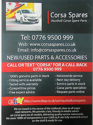 VAUXHALL CORSA 1 0L Non Twinport Engine Z10 Xe Fits 2000 To 2003 Good Runner