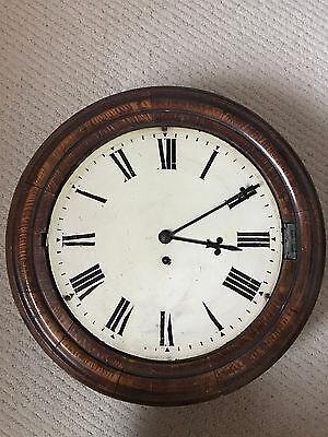 Oak Fusee Wall Clock by Elliott of London 2