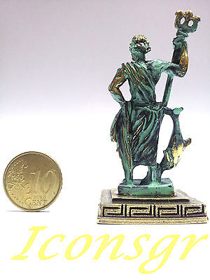 Ancient Greek Olympian God Miniature Sculpture Statue Zamac Poseidon King Of Sea