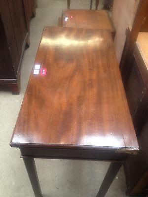 Georgian Mahogany Fold Over Tea Table Breakfast Dining Card Hall Desk Side 2