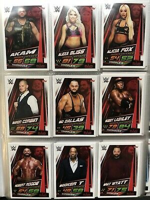 Topps WWE Slam Attax Universe,Complete Set 349 Cards + Collectors & 7 Limited 3