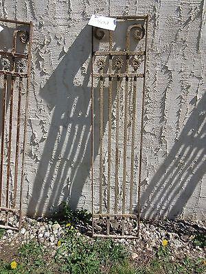 Antique Victorian Iron Gate Window Panel Fence Architectural Salvage Door #402 4