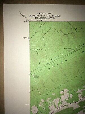 Richfield Pa. Juniata Co USGS Topographical Geological Survey Quadrangle old Map 2