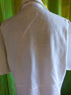 XL belle veste blanche en lin  femme ou longue mariniére 4