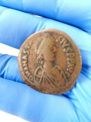 ANASTASIUS 491AD Ancient Medieval Byzantine Follis Constantinople Coin i79944 9