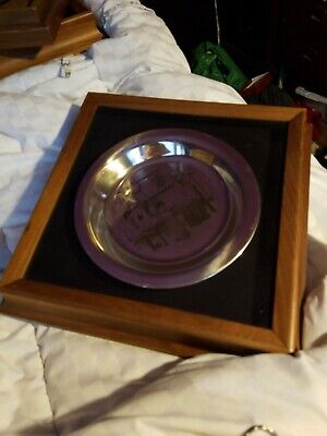 1975 Franklin Mint Thanksgiving Plate Sterling Silver Plate ~180 Grams Scrap 3