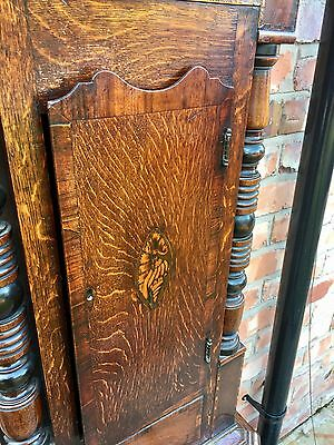 Antique Inlaid Oak & Mahogany Grandfather Longcase Clock E. BUTLER GREAT BRIDGE 8