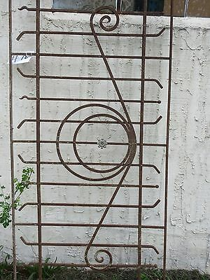 Antique Victorian Iron Gate Window Garden Fence Architectural Salvage Door #78 4