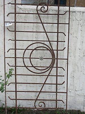 Antique Victorian Iron Gate Window Garden Fence Architectural Salvage Door #78 4