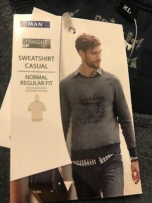 1 X STRAIGHT Up Man Sweatshirt Pullover Rundhals Casual