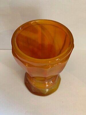 Lithyalin_Glasbecher_Böhmen_gelb/oranges marmoriertes Glas_Egerman_1830-1850 9