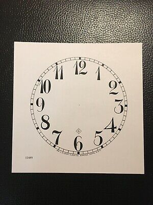 "Antique Clock Parts- Gilbert Clock Dial 5"".Original Cardboard, New, White. 2"
