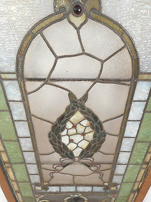 Vintage Stained Glass Window Panel (2939)NJ 5