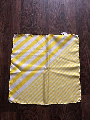 Paul Smith Silk Print yellow Stripes Handkerchief / Pocket Square 2