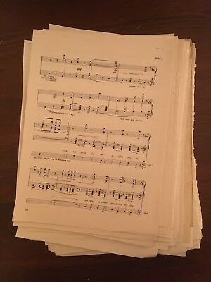 100g Vintage Sheet Music Paper WITH PENCIL MARKS ON Decoupage, SHABBYCHIC A4 Ish 4