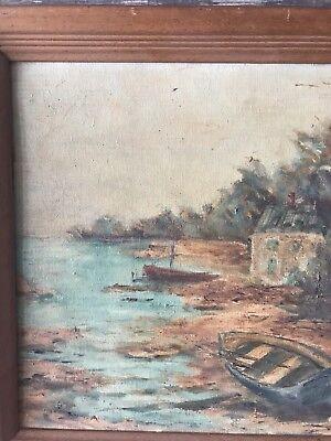 Vintage GRAHL Landscape Oil Painting Rare 4