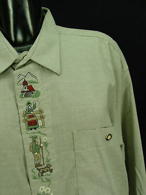 Gr.XL LINDA hellgrün mit Trachten Stickerei Baumwolle Trachtenhemd Hemd TH478 2