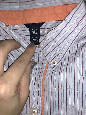 Baby Gap Boys Striped Button Down Shirt 4 Years SELLING TONS! Top Tee 2