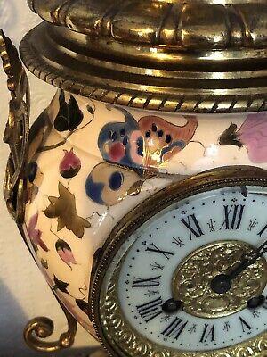 Antique French Ceramic Clock Set With Fantastic Candelabra 3
