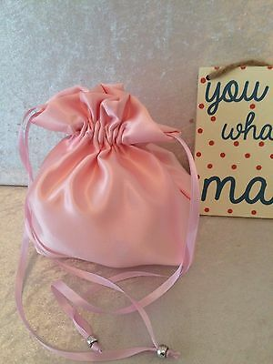 PLAIN DOLLY BAG BRIDAL BRIDESMAID FLOWER GIRL BNIP ASS. COLS. ** free samples** 7