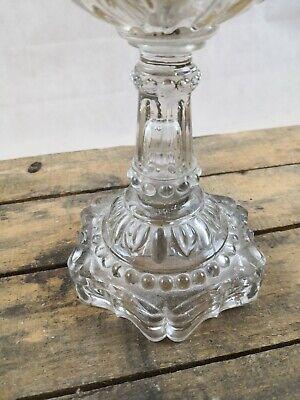 Lampe à pétrole ancienne en verre ou cristal/complète/old petrol lamp 2