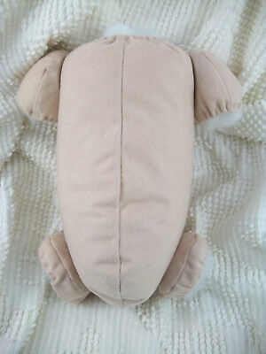 "18"" reborn baby doll body cloth doe suede for 3/4 arms & full jointed legs kits! 6"
